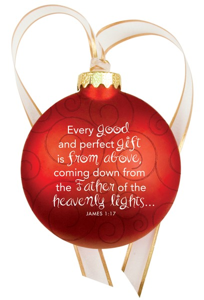 Christmas Swirls - Glass Ornament - Rejoice
