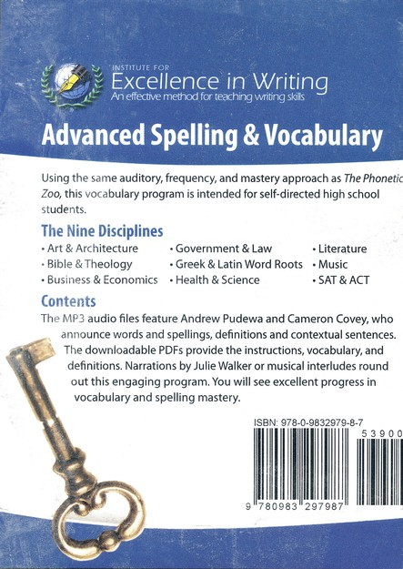 Advanced Spelling & Vocabulary Complete Course (2 CD-Rom Set)