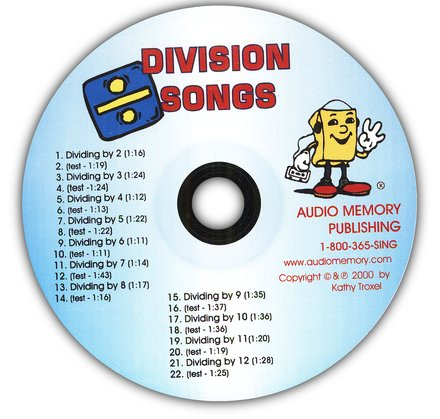 Audio Memory Division Songs Workbook & CD Set