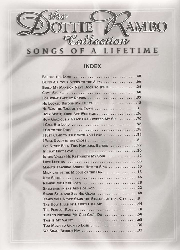 The Dottie Rambo Songbook Collection