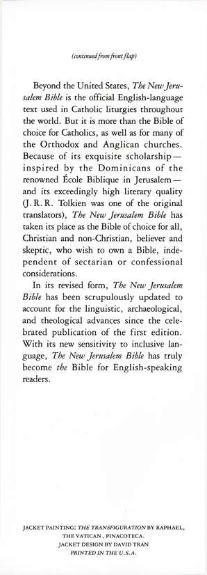 The New Jerusalem Bible, Hardcover