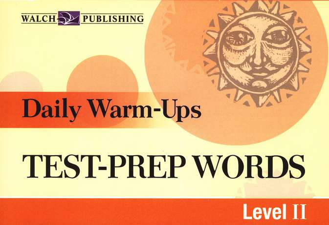 Daily Warm Ups, Test Prep Words, Level 2