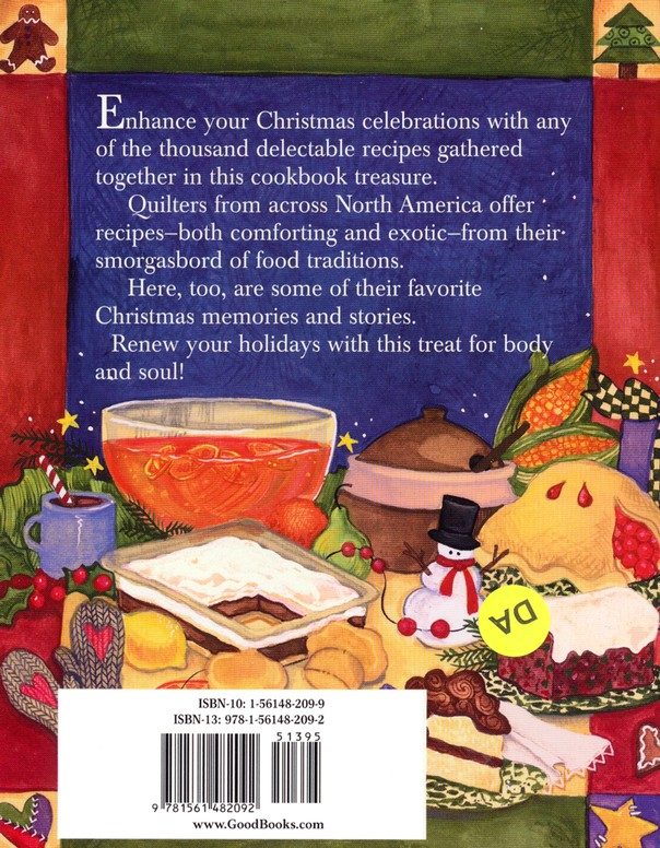 A Quilter's Christmas Cookbook  - Slightly Imperfect
