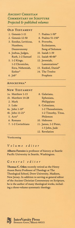 The Twelve Prophets: Ancient Christian Commentary on Scripture [ACCS]