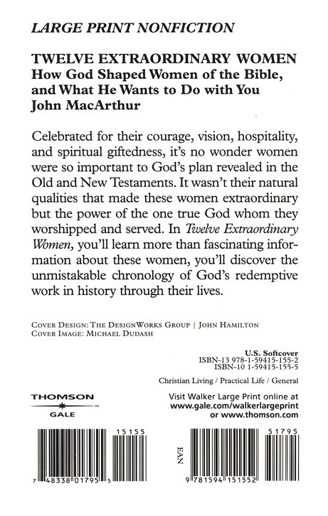 Twelve Extraordinary Women, Large Print