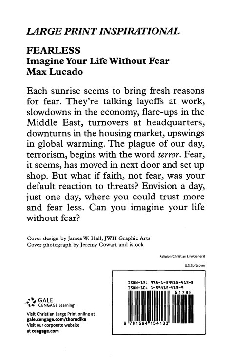 Fearless: Imagine Your Life Without Fear, Large Print