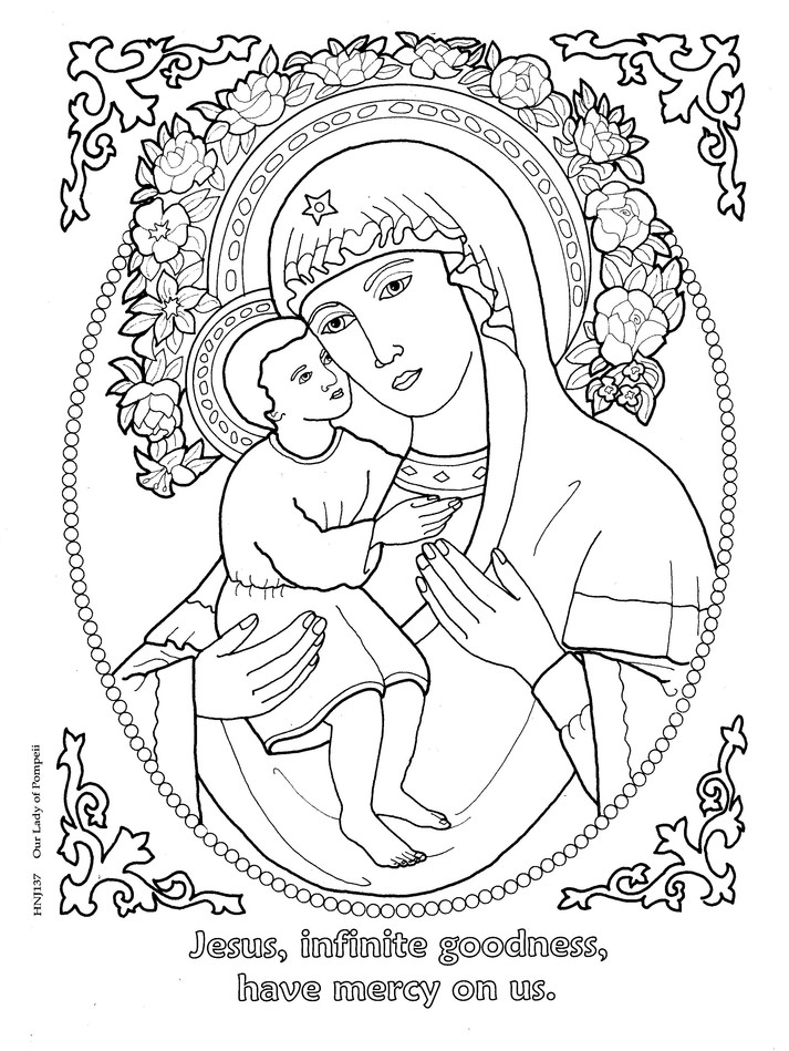 Holy Name of Jesus Coloring Book