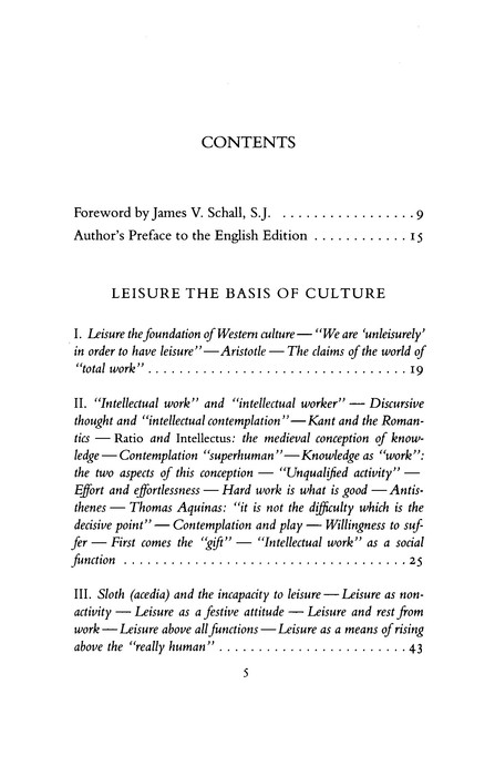 Leisure: The Basis of Culture & The Philosophical Act