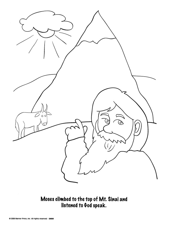 The Ten Commandments Coloring Book--Ages 4 to 7