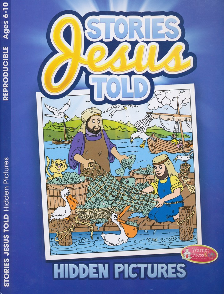 Stories Jesus Told Hidden Pictures Activity Book--Ages 6 to 10