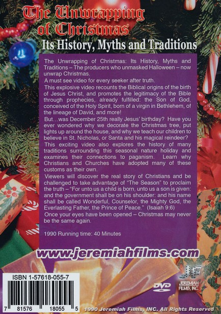 Unwrapping of Christmas, DVD