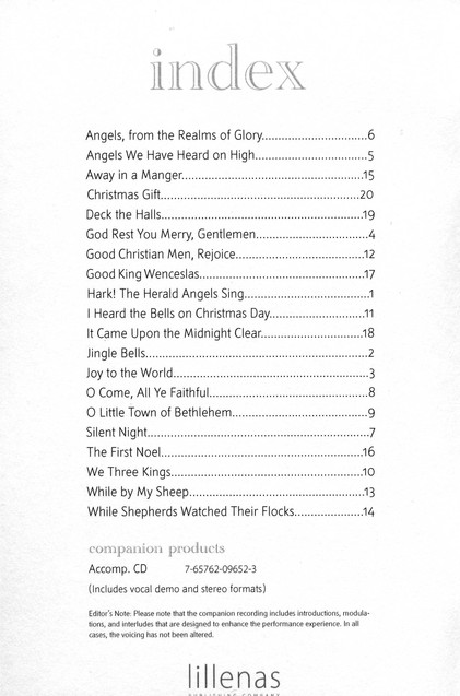 Let's Go Caroling!, Book
