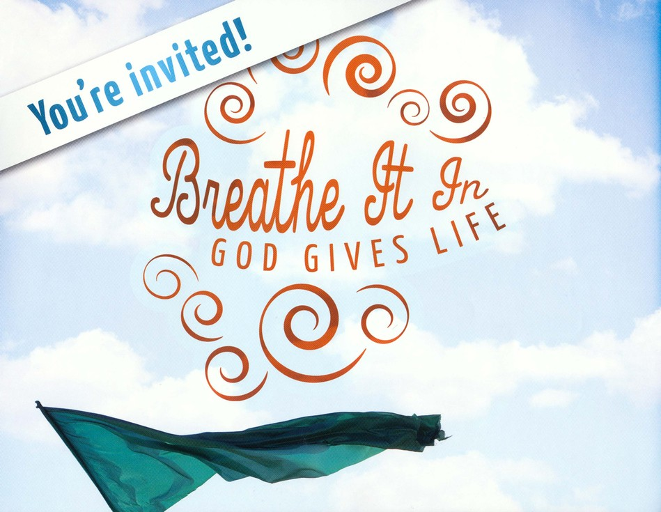 Breathe It In: God Gives Life VBS, Invitation Poster