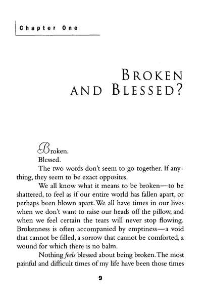 The Blessings of Brokenness