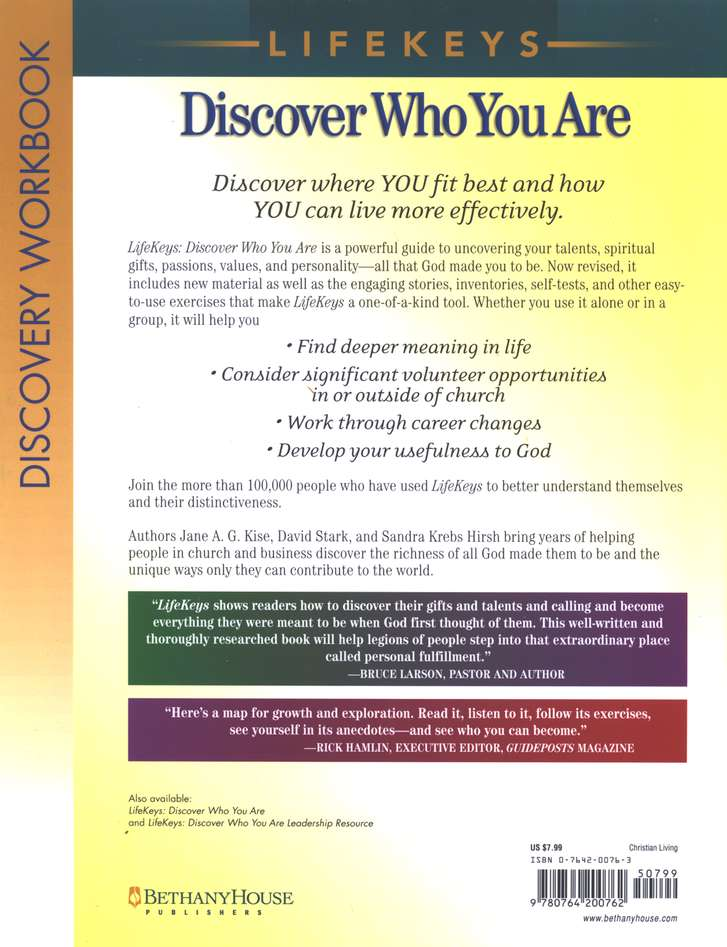 LifeKeys Discovery Workbook, revised edition