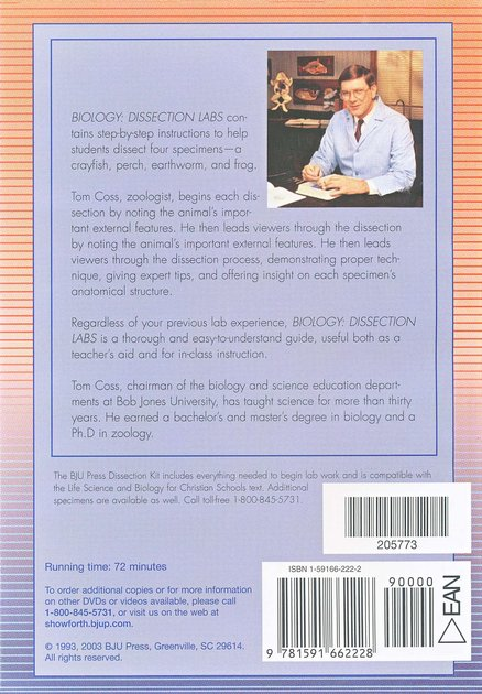 Biology Lab Dissection DVD