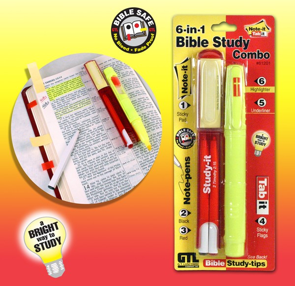 6 in 1 Bible Study Marking Combo Set