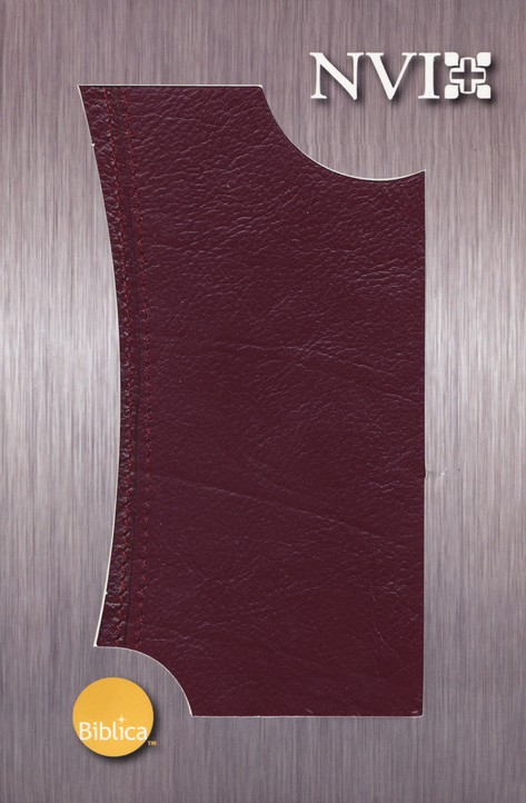 Biblia Ultrafina NVI, Piel Genuina Vino  (NVI Slimline Bible, Genuine Leather, Burgundy)