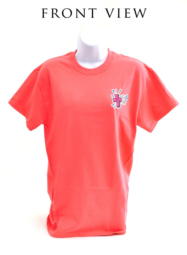 Girly Grace Strength Shirt, Coral,  Extra Large