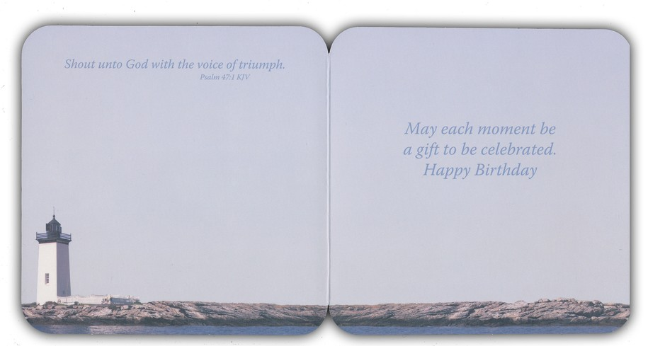 Lighthouses Birthday Cards, Box of 16