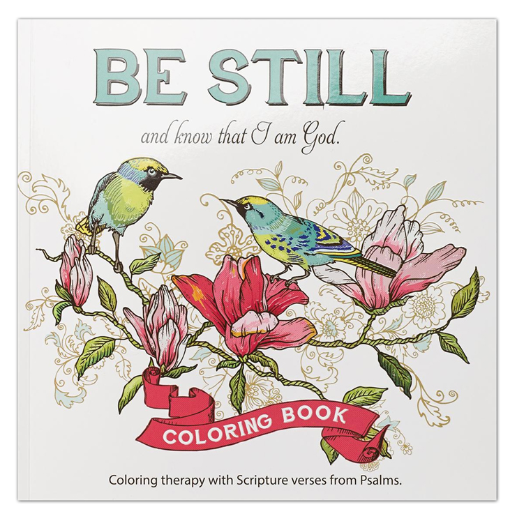 Be Still and Know That I Am God, Coloring Book For Adults