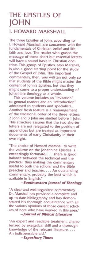 The Epistles of John: New International Commentary on the New Testament [NICNT]