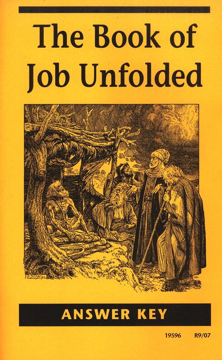 The Book of Job Unfolded Answer Key, Grade 12