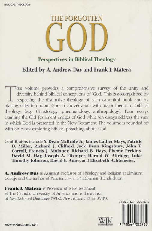 The Forgotten God: Perspectives in Biblical Theology