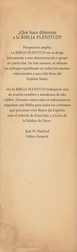 Biblia Plenitud RVR 1960, Enc. Dura con Indice  (RVR 1960 Spirit-Filled Bible, Hardcover Thumb Indexed)