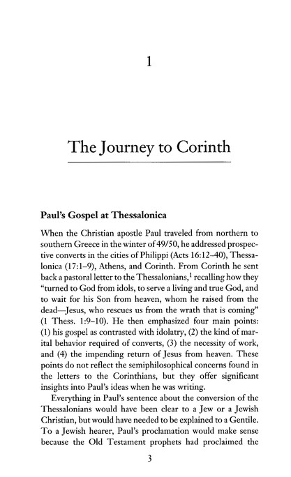 Paul in the Roman World: The Conflict at Corinth