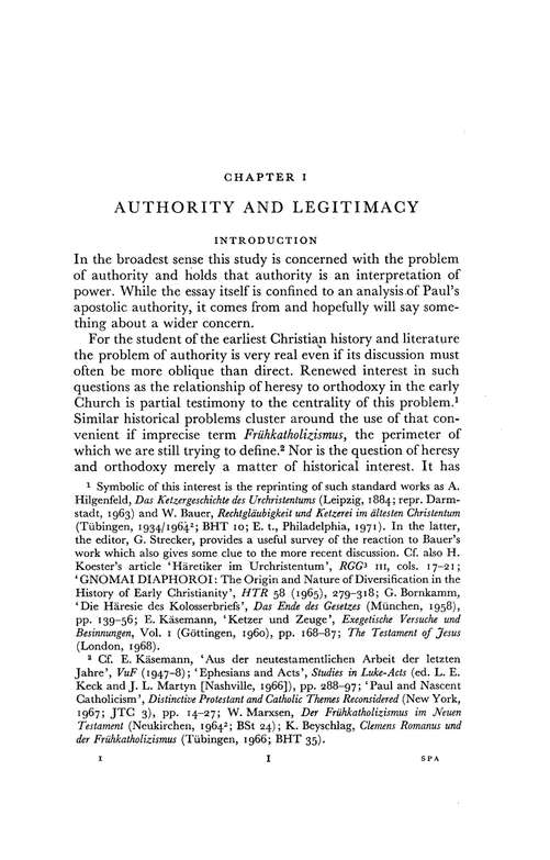 Paul and the Anatomy of Apostolic Authority: New Testament Library [NTL]
