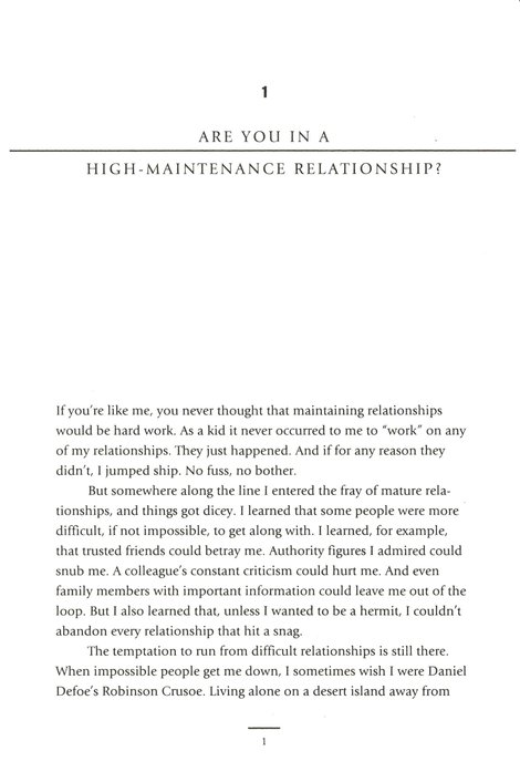 High-Maintenance Relationships