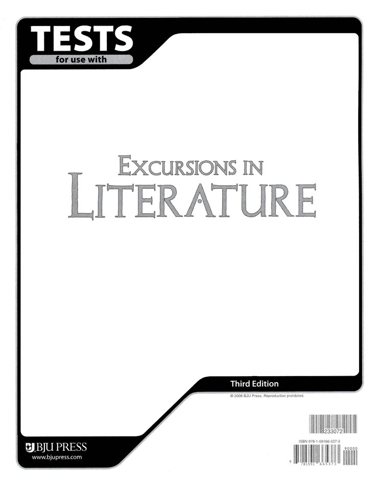 BJU Excursions in Literature Tests Grade 8, Third Edition