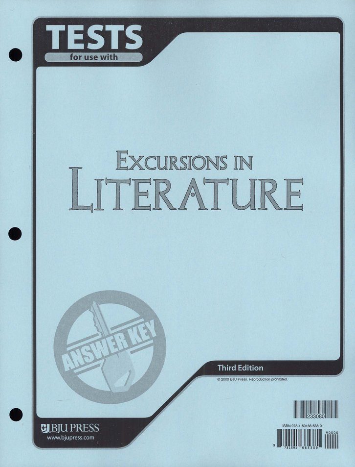 BJU Excursions in Literature Tests Answer Key Grade 8, 3rd Edition
