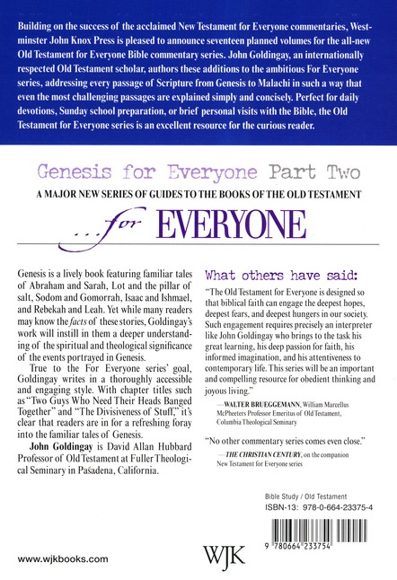 Genesis for Everyone: Part 2, Chapters 17-50 (Old Testament for Everyone)