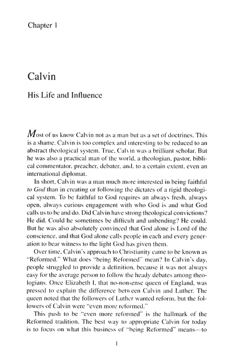 John Calvin: Reformer for the 21st Century