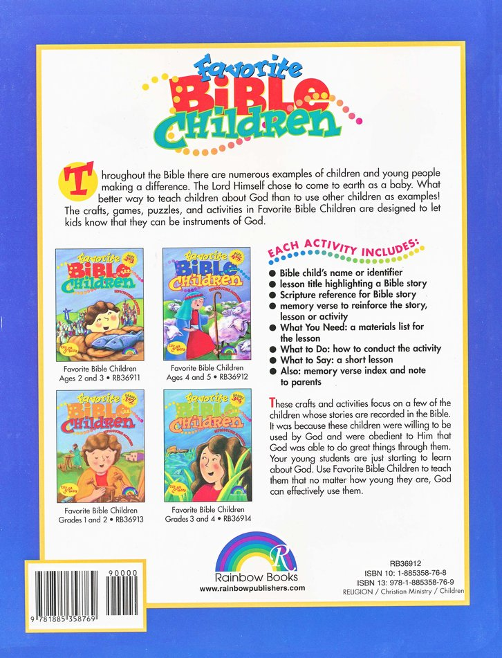 Favorite Bible Children, Ages 4-5