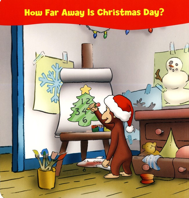 Curious George Christmas Countdown Tabbed Board Book