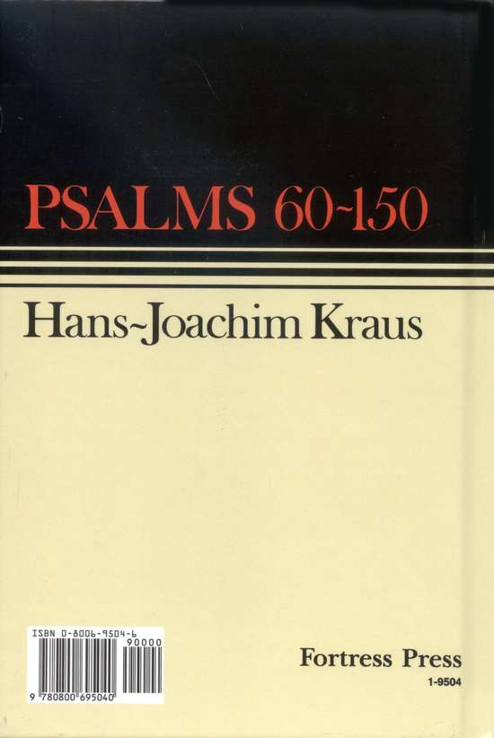 Psalms 60-150, Continental Commentary Series