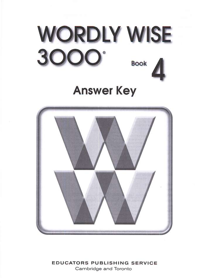 Wordly Wise 3000, Grade 4, Answer Key for Student Text
