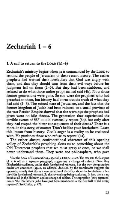 The Message of Zechariah: The Bible Speaks Today [BST]