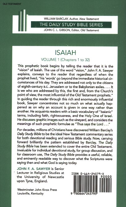 Isaiah, Volume 1: New Daily Study Bible [NDSB]