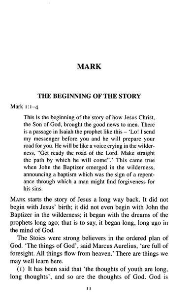 The Gospel of Mark: New Daily Study Bible [NDSB]