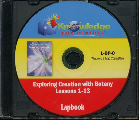 Exploring Creation with Botany Package Lessons 1-13 Lapbook CD-ROM