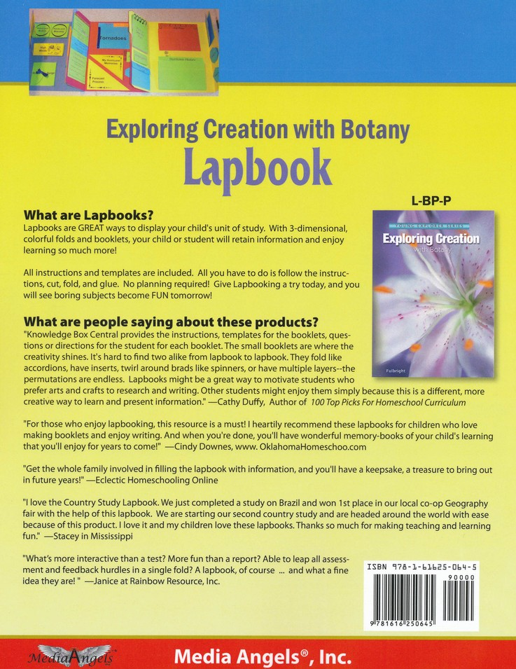 Apologia Exploring Creation with Botany Package Lessons 1-13 Lapbook
