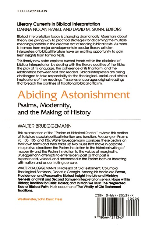 Abiding Astonishment: Psalms, Modernity, & the Making of History