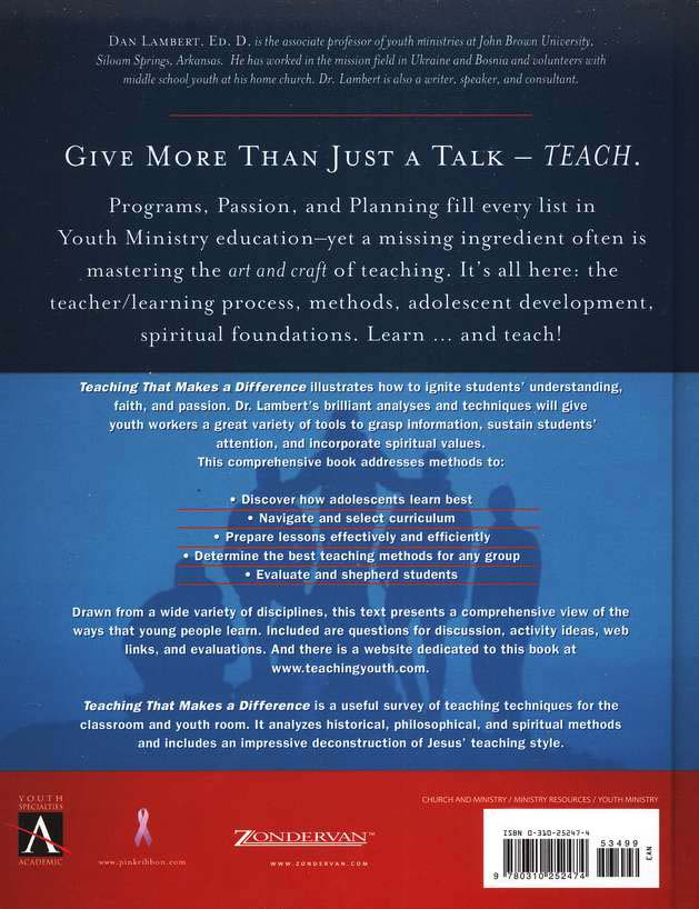 Teaching That Makes a Difference: How to Teach for  Teens for Holistic Impact