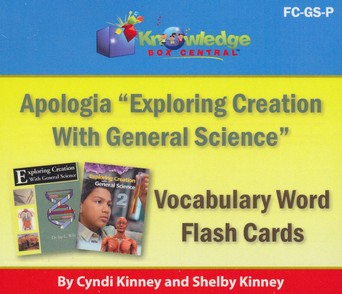 Apologia Exploring Creation With General Science (1st & 2nd Editions) Vocabulary Word Flash Cards (Printed)