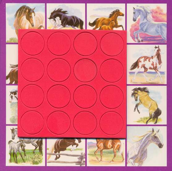 Tic Tac Twice: Herd Your Horses Edition,  Magnetic Travel Game