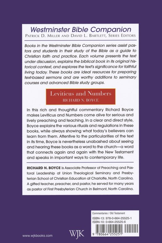 Leviticus and Numbers: Westminster Bible Companion